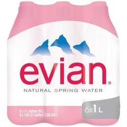 Evian Natural Spring Water 6Pk (2x6Pack)
