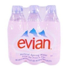 Evian Natural Spring Water (4x6Pack)