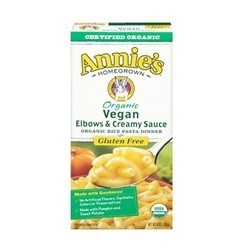 Annie's Homegrown Organic Vegan Elbows & Creamy Sauce (12x6 OZ)