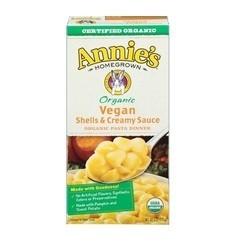 Annie's Homegrown Organic Vegan Shells & Creamy Sauce (12x6 OZ)
