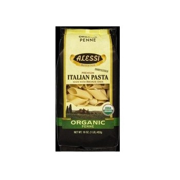 Alessi Organic Penne Italian Pasta Made with Bronze Dies (12x16 OZ)