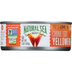 Natural Sea Tuna Yellowfin Chunck Light Salted 5 oz case of 12