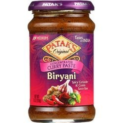 Pataks Curry Paste Concentrated Biryani Medium 10 oz case of 6
