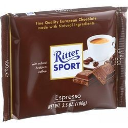Ritter Sport Chocolate Bar Milk Chocolate Espresso 3.5 oz Bars Case of 12