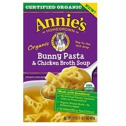 Annie's Homegrown Organic Bunny Pasta and Chicken Broth (8x17 OZ)