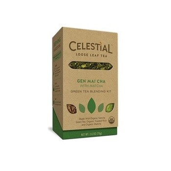 Celestial Seasonings Loose Leaf Tea with Matcha Gen Mai Cha (6x2.6 OZ)