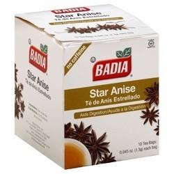 Badia Star Anise Tea (20x10 BAG)