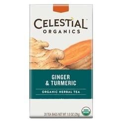 Celestial Seasonings Organics Herbal Tea Ginger & Turmeric (6x20 BAG)