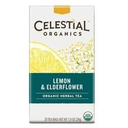 Celestial Seasonings Organic Herbal Tea Lemon & Elderflower (6x20 BAG)